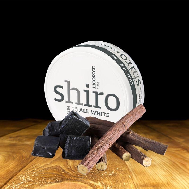 Nikotiininuuska Shiro licorice